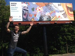 The People's Choice Award in the 2014 High Art Billboard Project--a partnership of the Indianapolis Arts Council and Clear Channel Outdoor.